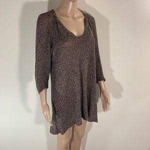 Eileen Fisher Linen Knit Tunic Top M